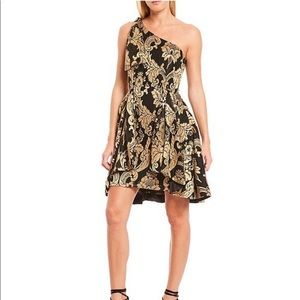 Gianni Bini one shoulder fit and flare Dress